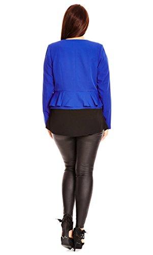 Designer Plus Size JKT SWEET PEPLUM - Cobalt - 22 / XL | City Chic