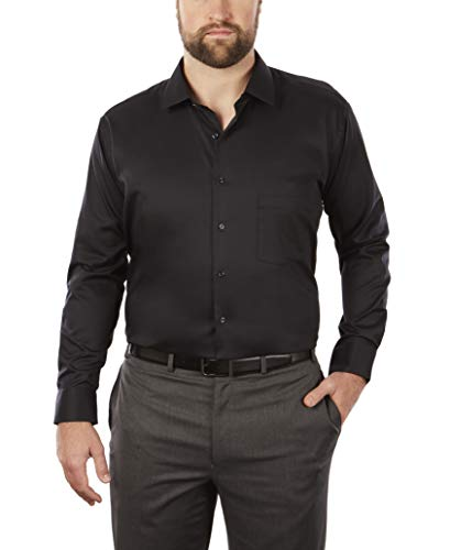 Van Heusen Men's BIG FIT Dress Shirts Flex Collar Solid (Big and Tall) 2