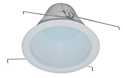 Four Bros Lighting- 6'' & 5'' Inch White Baffle Cone Trim Air Tight for Recessed Can Light (6 Inch (12 pack)) by Four Bros Lighting