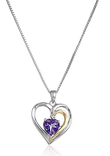 (Sterling Silver Heart Pendant Necklace 16