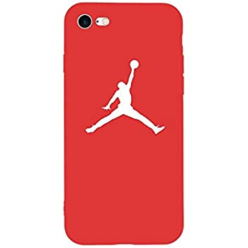 1 piece New Fashion Sport Fun Jordan Air Jump Man Soft TPU Silicone Case for iPhone 6 6s Plus 8 8Plus 7 7Plus X 5 5s SE Phone Bag Cover