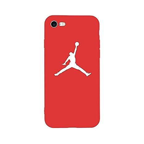 1 piece New Fashion Sport Fun Jordan Air Jump Man Soft TPU Silicone Case for iPhone 6 6s Plus 8 8Plus 7 7Plus X 5 5s SE Phone Bag Cover