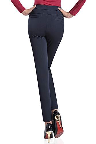 Casual Forti Inverno Tinta Donna Taglie Vita Elastico Yihigh A 5 Pantaloni Unita Pantalone Alta Stile w7zqvxAnf