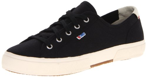 BOBS from Skechers  LE Club Brentwood Fashion Sneaker,Black,8.5 M US
