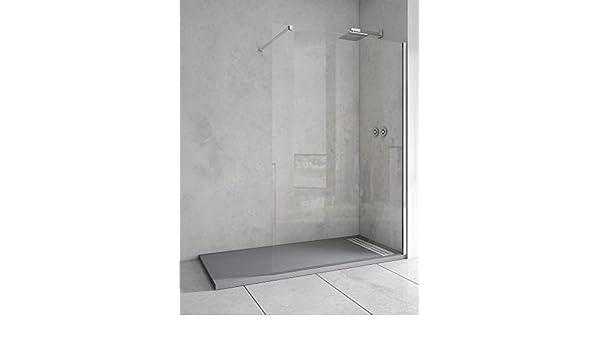 Mampara de ducha de 1 hoja fija - Cristal de Seguridad de 6 mm - Modelo TALA: Amazon.es: Bricolaje y herramientas