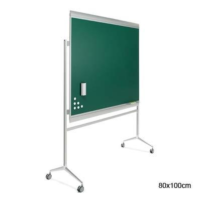 Pizarra verde en acero vitrificado Zen con soporte en Y ...