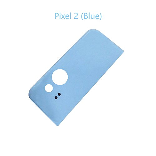 Glass Upper Part - Alovexiong Blue Upper Back Rear Top Panel Housing Cover Glass Cover with Adhesive Replacement Parts for HTC Google Pixel 2 5.0 Inch (Not Include Camera Glass Lens)