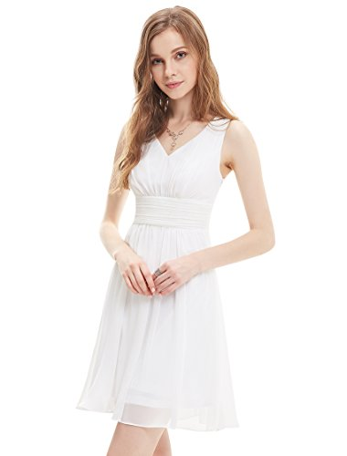 White Empire Waist Dress: Amazon.com