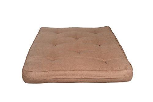 Primo International Avery 8-Inch Pocket Coil Supreme Futon Mattress, Full Size, Chocolate ()