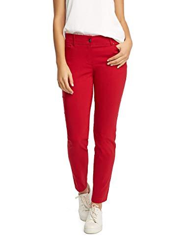 89th + Madison Five Pocket Stretch Straight Leg Pants (10, Ferrari Red)