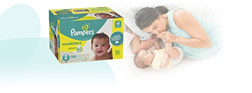 Large Product Image of Pampers Swaddlers Disposable Baby Diapers Size 2, 186 Count, ONE MONTH SUPPLY