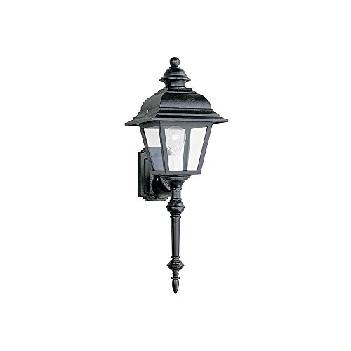 Sea Gull Lighting 8814-12 Outdoor Wall Light, Black