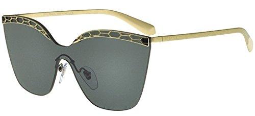 Bvlgari BV6093 278/87 Pale Gold/Black BV6093 Oval Sunglasses Lens Category 3 ()