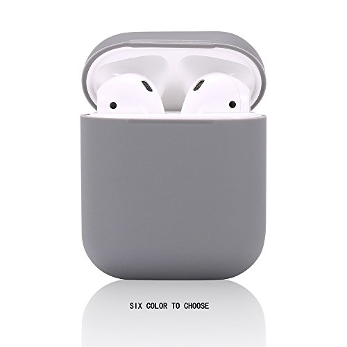 Airpods Case/Airpods 2 Case,Teyomi Protective Silicone Cover Skin with Sport Strap for Apple Airpods Charging Case[Front LED Not Visible] (Gray)