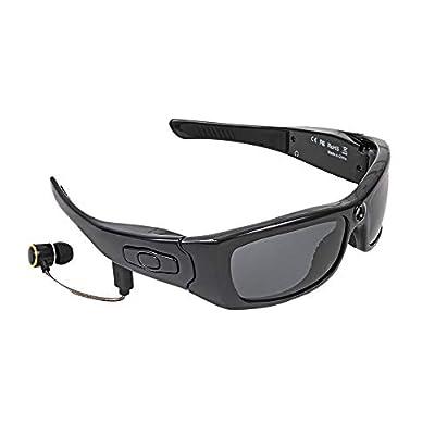 TOOGOO Sunglasses Camera Headset Hd1080P Bluetooth Mp3 Player Photo Video Recorder Mini Dv Camcorder for Outdoor Mini Camera Glasses