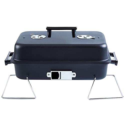 Portable Charcoal Grill with Lid Folding Tabletop BBQ Grill Barbecue Grill for Outdoor Cooking Camping Picnic Patio Backyard Cooking