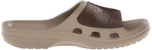 Crocs Mens Yukon Mesa Slide Sandaal Kaki / Espresso