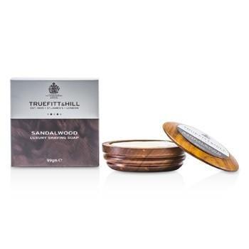TrueFitt & Hill 99g Sandalwood Luxury Shaving Soap in Wooden Bowl 00554