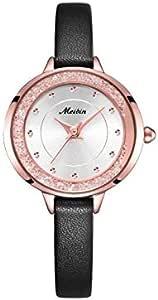 ساعة يد انالوج جلد مقاوم للمياه للنساء من ميبين - M1096-KHRG