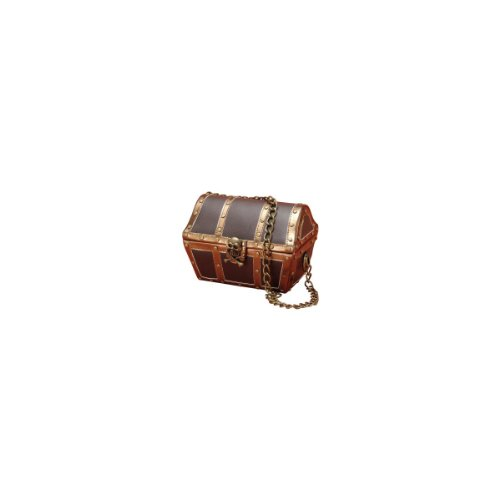 Halloween Purses - Forum Novelties Women's Novelty Pirate Chest Handbag, Brown, One Size