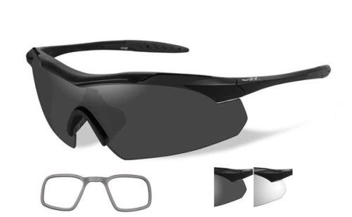 Wiley X Vapor Sunglasses - Grey/Clear Lens - Matte Black Frame w/Rx Insert by Wiley X (Image #1)