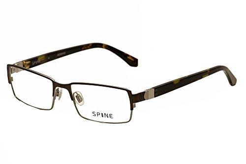Spine Eyeglasses SP2002 SP/2002 901 Black/Dark Havana Full Rim Optical Frame 54mm by - Mall Eyeglasses Pacific