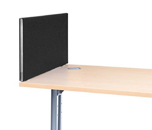 U201cSpeedyu201d Office Desktop Screens/Partitions, 480mm High X 800mm Wide In  Black. U201c