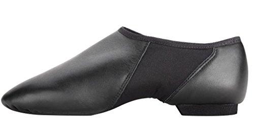 Slip De Calzado De Cuero Para Mujer En Negro