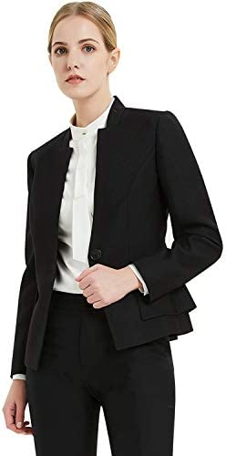 Goodyoung Women S 2pc Office Lady Business Slim Fit Suits Black Black 84 Amazon Com Au Fashion