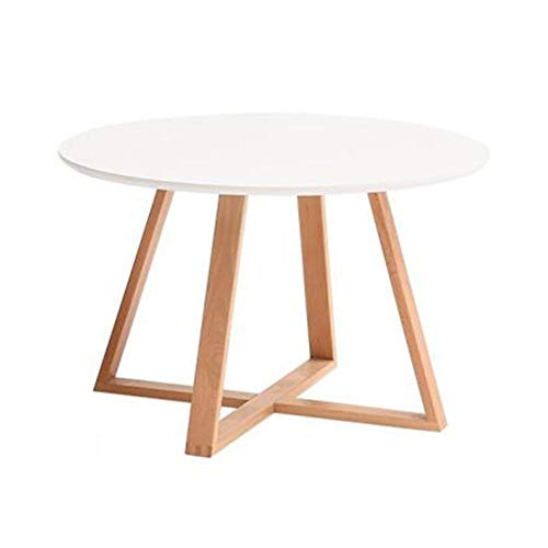 Nesting Coffee Table Side Table for Living Room Bedroom Balcony CJC (Color : White, Size : 80x51cm)