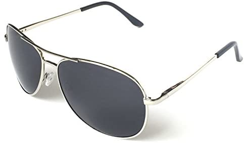 J+S Premium Military Style Classic Aviator Sunglasses, Polarized, 100% UV coverage