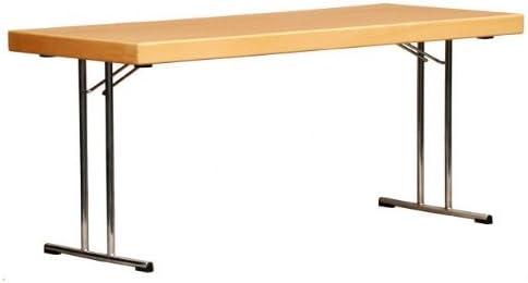 Mesa plegable con T-cromo, tablero recubierto de resina de ...