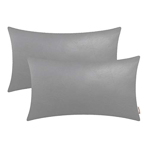 BRAWARM Bolster Leather Cushion Decoration