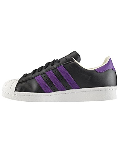 adidas Originals Superstar 80s Mens Trainers Sneakers (UK 8.5 US 9 EU 42 2/3, Black White BB3718)