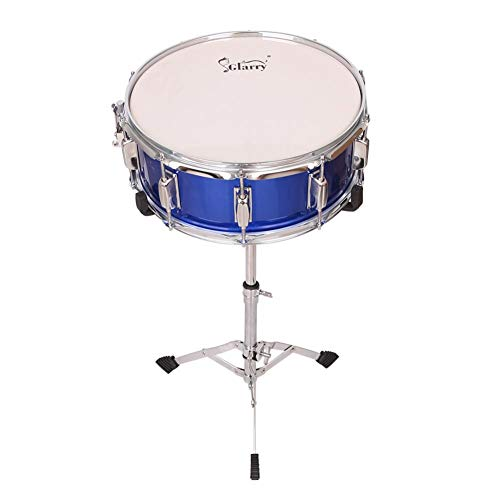 themesmith Glarry 14x5.5 Blue Snare Drum + Bracket + Drum Pack + Strap + Drum Stick(Shipped from US)