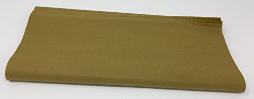 A1BakerySupplies Premium HighQuality Gift Wrap Tissue Paper 15 Inch X 20 Inch - 100 Pack (Antique Gold)