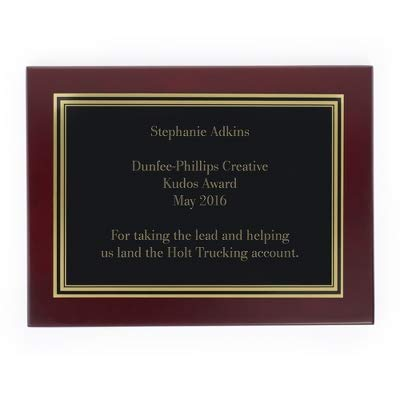 Things Remembered Personalized 5 x 7 Landscape Mahogany Plaque ()
