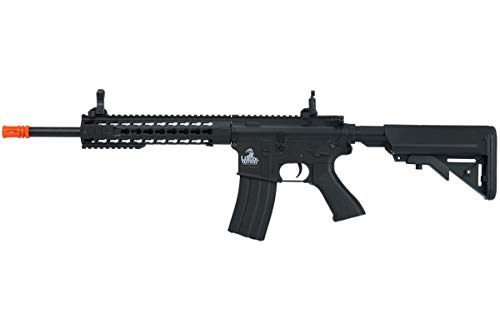 Lancer Tactical Full Metal Gear with 10 keymod Rail Interface System Polymer Body lt-19 (Black)(Airsoft Gun)