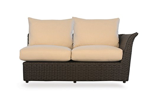 Lloyd Flanders Flair Left Arm Love Seat , Espresso Vinyl & View Citron fabric