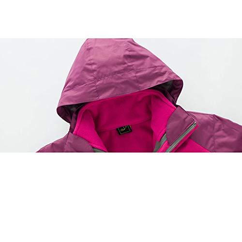 Sportivo Pink Due Staccabile Pezzi Da Antivento Alpinismo Huifang In Abbigliamento Giacca All'aperto Impermeabile Viaggio Donna TF7A6q