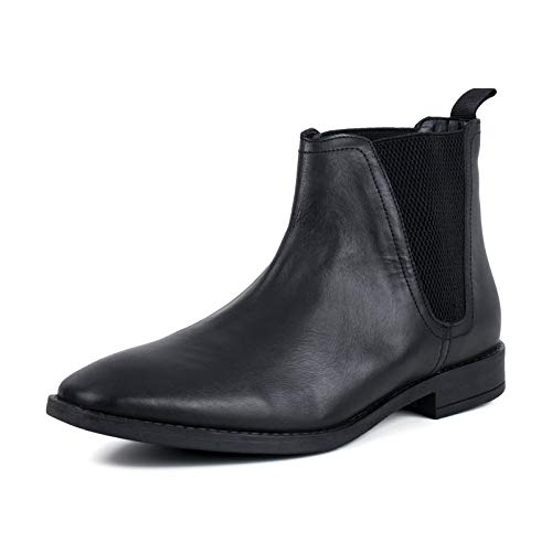 Square Square Toe Boot Black Chelsea Leather Mens Redfoot wqH146q