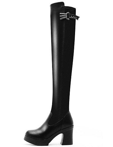 Black Tacón Vestido De 5 Negro Botas Mujer Eu39 us7 Sintético Xzz Noche Casual Moto Eu38 Cn38 Uk6 us8 Fiesta Black La Moda 5 Uk5 Y Robusto Cn39 Zapatos A wTqvxAt