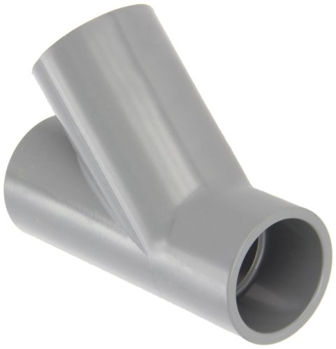 """GF Piping Systems CPVC Pipe Fitting, Wye, Schedule 80, Gray, 1-1/2"""" Slip Socket"""