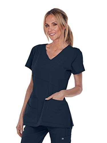 Grey's Anatomy Signature 2130 Mock Wrap Top Graphite S