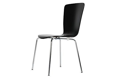 Novogratz Bentwood Dining Chair with Chrome Plated Legs, Set of 2, (Bentwood Dining Chair)
