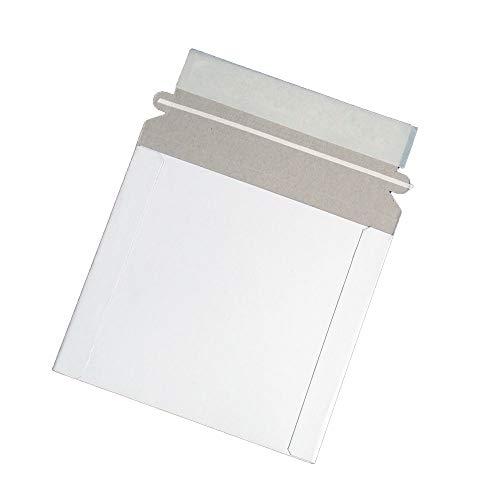 Maxtek CD/DVD Disc White Cardboard Mailers, 6 x 6 3/8 Inches, Self Seal Adhesive Flap, 100 Pack.