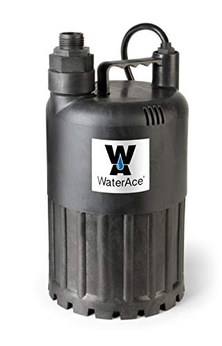 WaterAce WA80UP Submersible Utility Pump, 1/2 HP, - Hp Pump 0.5 Submersible