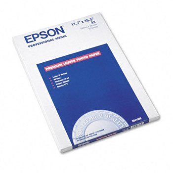 Epson® Ultra Premium Luster Photo Paper PAPER,LSTR PHTO,A3-SZ 16332 (Pack of2) by EPSONA