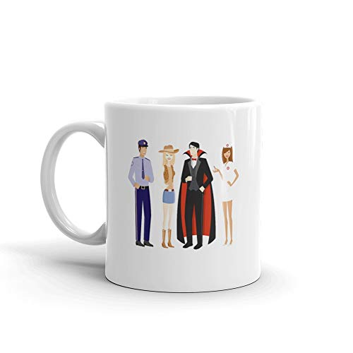Two Couples In Halloween Costumes Dracula Coffee Awesome