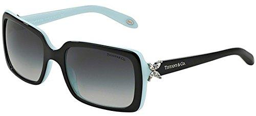 TIFFANY & CO. Victoria TF 4047B - 80553C Rectangular Sunglasses Black, Blue 55mm (Tiffany Victoria)